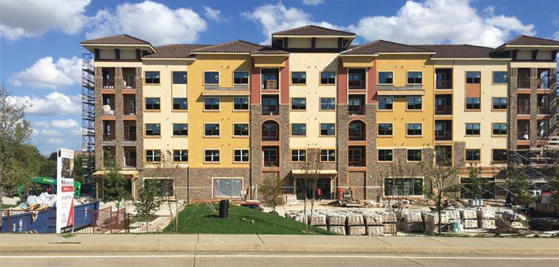 lakeview apartments in rockwall under construction